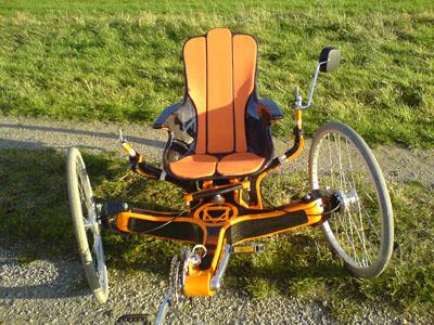 carbon liegerad orange trike carbon trike. Black Bedroom Furniture Sets. Home Design Ideas